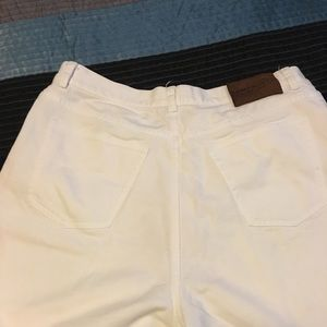 Ralph Lauren size 12 white denim straight jean